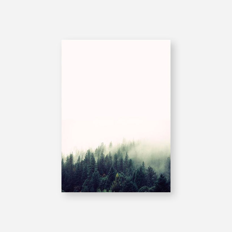 Green Forest Landscape Canvas Print