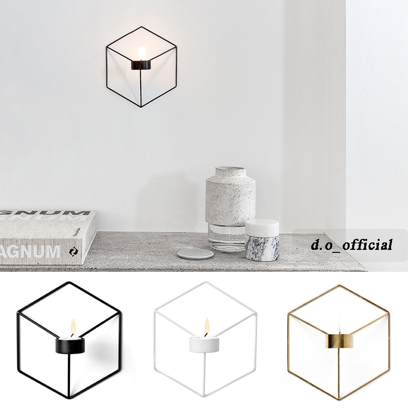 Wall Hanging Geometric Tealight Holder (3 Colours)