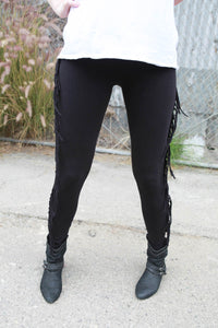 "Stylelineup.com loves Sweet Virtues ""Felicity"" Fringe Legging"