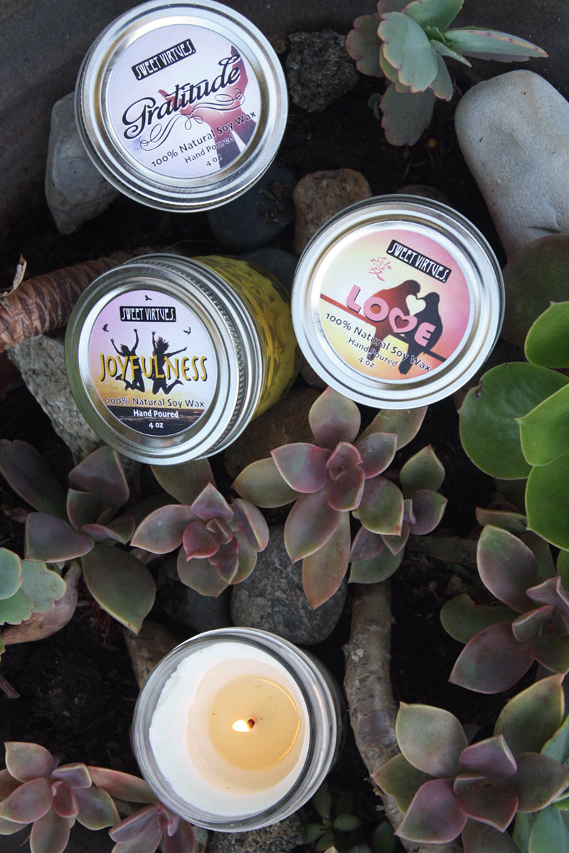 SWEET VIRTUES - Hand Poured Soy Wax Candle Gift Set