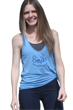 SWEET VIRTUES-Happiness Printed Cotton Racer Back Tunic Tank