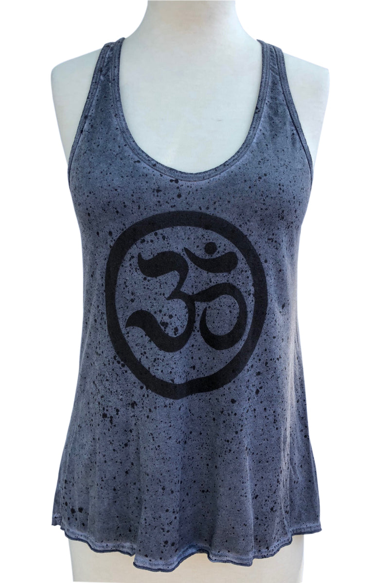 OHM SPLATTER DYE COTTON RACER BACK TANK