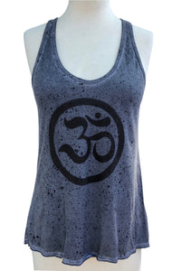SWEET VIRTUES-Ohm Splatter Dye Cotton Racer Back Tank