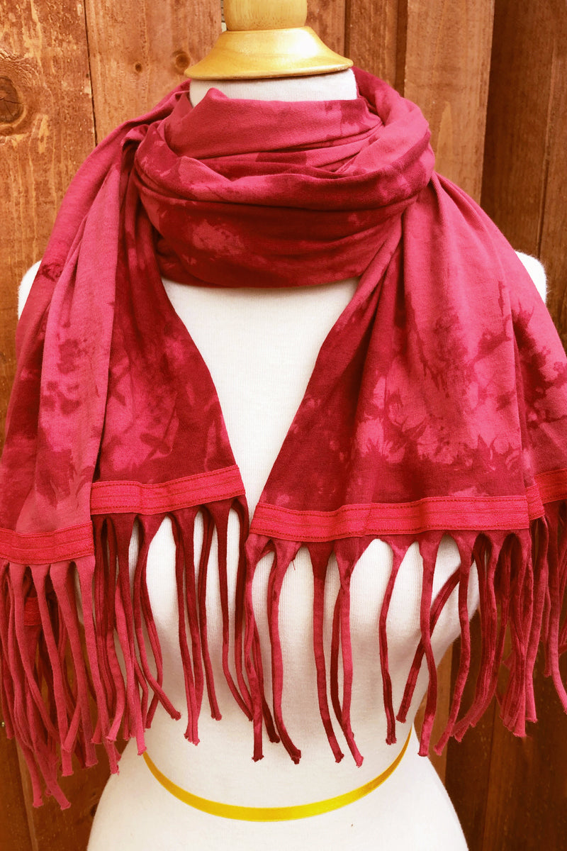 SWEET VIRTUES-Discreet Cloud Wash Cotton Wrap Scarf with Fringe