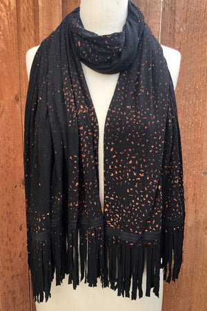 SWEET VIRTUES-Honesty Speckled Wash Wrap Scarf with Fringe