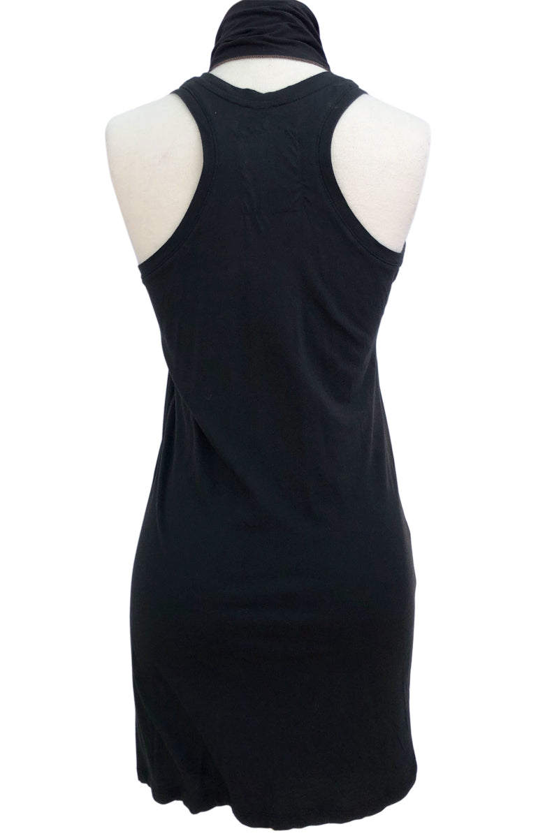 SWEET VIRTUES-Steadfast Cotton Modal Racer Back Tank Dress With Sash