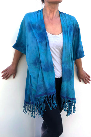 SWEET VIRTUES-Modesty Cotton Jersey Hand Dyed Kimonos