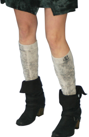 SWEET VIRTUES-Purpose Cotton Spandex Hand Dyed Stirrup Leg Warmers