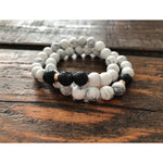 Howlite Diffuser Stackers