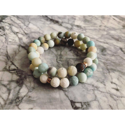 Multi Amazonite Diffuser Stackers