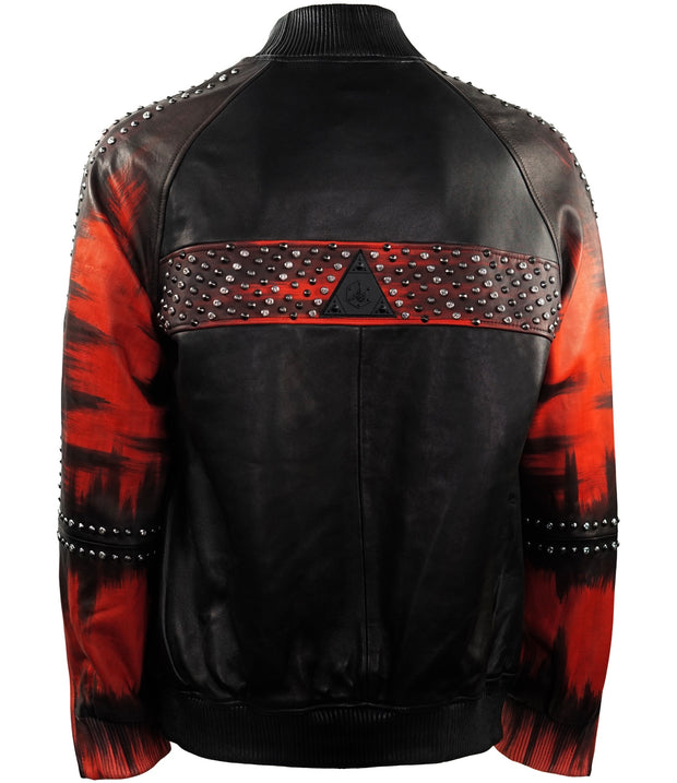 Studded HandPainted Bomber
