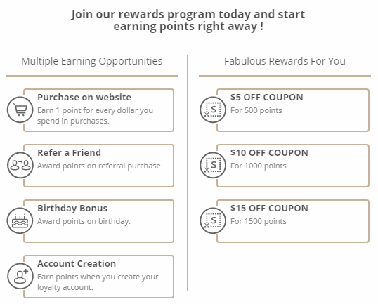 Style Flaire Reward Program earn on purchases