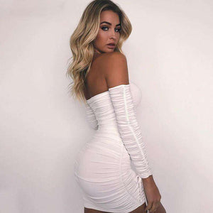Sexy Off Shoulder Bodycon Party Dress,, style flaire clothing fashion and gifts