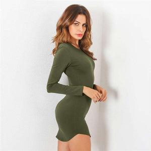 Sexy Slim Summer Long Sleeve Dress,, style flaire clothing fashion and gifts