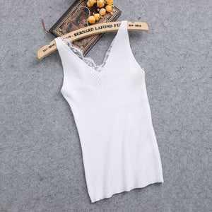 Camisole Lace V-neck Vest Tops,, style flaire clothing fashion and gifts