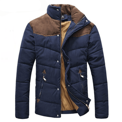 Mens Winter Splicing Padded Jacket,, style flaire clothing fashion and gifts