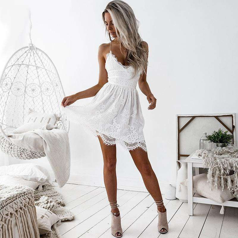 Lace Dress V-Neck Dress Party Dresses,, style flaire clothing fashion and gifts