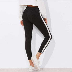 Stripe Skinny Ankle Jeans,, style flaire clothing fashion and gifts