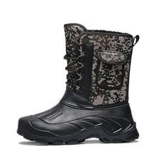 Winter Waterproof Camouflage Fur Plush Boots,, style flaire clothing fashion and gifts