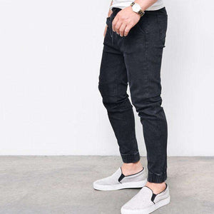 Mens Harem Denim Jeans/  Elastic Pants Legging,, style flaire clothing fashion and gifts