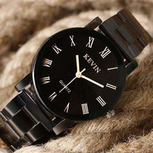 Black Stainless Steal Quartz Watch,, style flaire clothing fashion and gifts