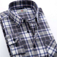 Plaid Long-sleeved Casual Shirts Flannel Slim Fit Spring Male Business Fashion,, style flaire clothing fashion and gifts