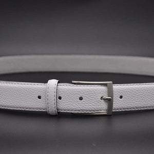 White Male Waist Belt Stylish Pebble Grain White,, style flaire clothing fashion and gifts
