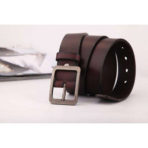 Men Bold Leather Belt With Metal buckle,, style flaire clothing fashion and gifts