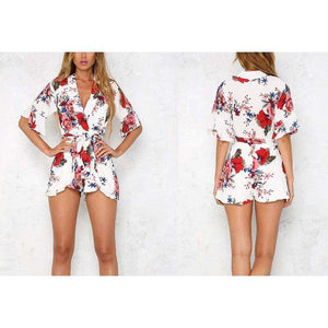 Floral Ruffles Elegant Sexy Playsuits,, style flaire clothing fashion and gifts