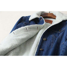 Autumn And Winter LambWool Coat For Women - Long Sleeves Denim Jacket,, style flaire clothing fashion and gifts
