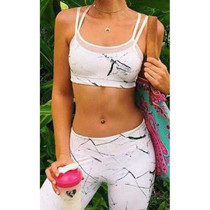 Women Yoga Set Sleeveless Tops And Leggings Mesh Gym Sport Running Fitness Workout Gear,, style flaire clothing fashion and gifts