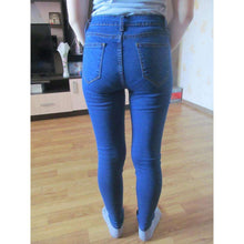 Slim Stretch Ripped Jeans Elasticity Skin High Waisted Pencil Denim Pants,, style flaire clothing fashion and gifts