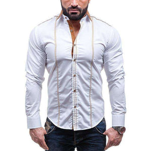 Men Stripped Long Sleeve Shirt,, style flaire clothing fashion and gifts