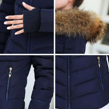 Furred Womens Winter Jacket Slim Fit Artificial Raccoon Furred Collar,, style flaire clothing fashion and gifts