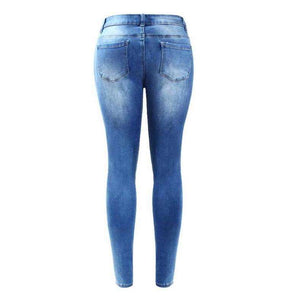 Ripped Faded Womens True Denim Skinny Jeans Distressed Pencil Pants,, style flaire clothing fashion and gifts