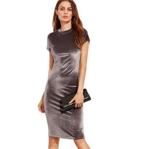 Velvet Sheath Summer Ladies Summer Dress Summer,, style flaire clothing fashion and gifts