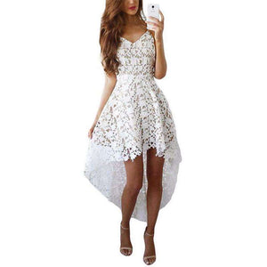 Summer Casual Elegant Lace Party Dress Long Back,, style flaire clothing fashion and gifts