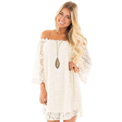 Sweet Vintage Lace Off The Shoulder Dress,, style flaire clothing fashion and gifts