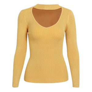 Womens Elegant Halter Knitted Sweater Top Short Pullover,, style flaire clothing fashion and gifts