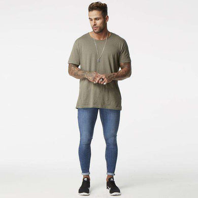 Blue Ripped Jeans For Men Super Stretch Distressed Jeans Skinny Fit,, style flaire clothing fashion and gifts