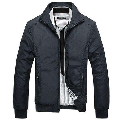 Mens Spring Jacket Stand Collar With Rib Sleeves,, style flaire clothing fashion and gifts