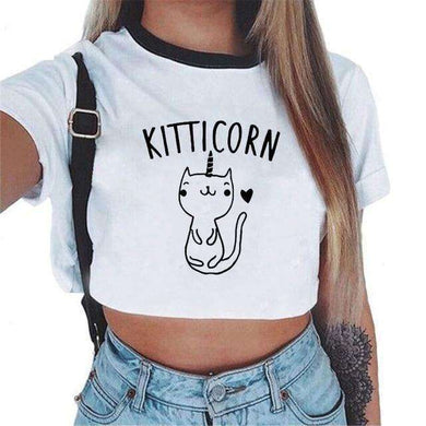 Cute Rainbow Unicorn & Pet Crop Tops,, style flaire clothing fashion and gifts