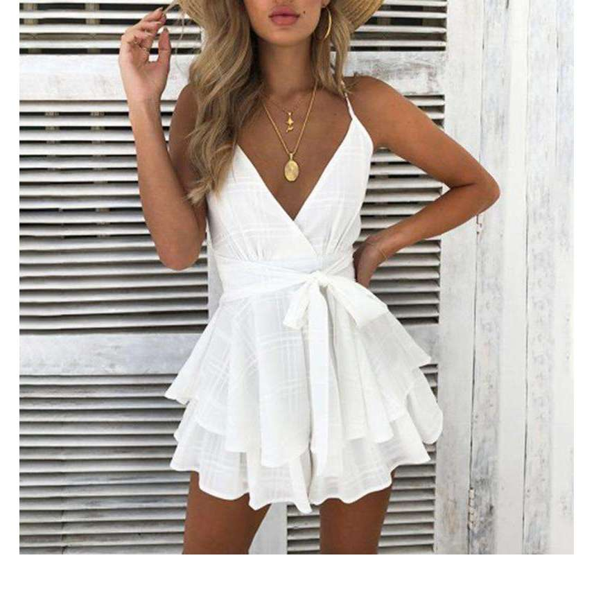 Floral Boho V Neck Sexy Playsuit,, style flaire clothing fashion and gifts