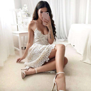 Lace Summer V-Neck Party Dress,, style flaire clothing fashion and gifts