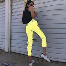 Streetwear Rave Reflective Jogger pants,, style flaire clothing fashion and gifts