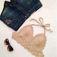 Lace Sleeveless Crop Top Bikini,, style flaire clothing fashion and gifts