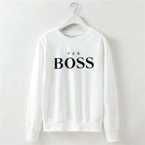 Ladies Boss Casual Sweatshirt Pullover,, style flaire clothing fashion and gifts