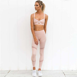 Womens Gym And Yoga Two Piece Set Workout Set,, style flaire clothing fashion and gifts
