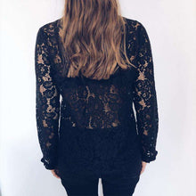 Sexy Lace Hollow Out Flare Blouse Shirt,, style flaire clothing fashion and gifts