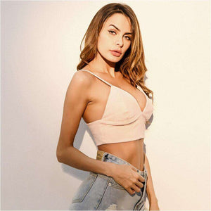 Cami Suede Summer Crop Top,, style flaire clothing fashion and gifts